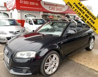 USED 2009 09 AUDI A3 2.0 TFSI S LINE 2d 197 BHP AUTOMATIC CABRIOLET