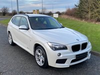 "USED 2013 13 BMW X1 2.0 SDRIVE18D M SPORT 5d 141 BHP AUTO RED SPORTS LEATHER, 18"" ALLOYS"