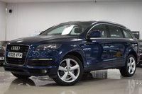 USED 2008 08 AUDI Q7 3.0L TDI QUATTRO S LINE 5d AUTO 240 BHP LOVELY FAMILY CAR, 7 SEATS!, GOOD VALUE FOR MONEY AUDI Q7, 2 KEY