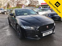 USED 2015 65 JAGUAR XE 2.0 R-SPORT 4d 178 BHP IN METALLIC BLACK WITH TWO TONE LEATHER SEATS, SAT NAV, AND A FULL SERVICE HISTORY WITH 1 OWNER. THIS IS A ULEZ COMPLIANT VEHICLE  Approved Cars are pleased to offer this stunning 2015 Jaguar XE2.0 R-Sport in metallic black with only 25000 miles. This ideal luxury car has been extremely well looked after and maintained and comes with a full service history. This car is extremely well equipped with black and white two tone leather seats with the front being heated, Sat Nav, bluetooth, rear camera, front and rear parking sensors, grey wood trim and much much more. For more information call 01622 871555