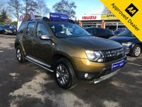 2016 DACIA DUSTER 1.2 LAUREATE TCE 5d 125 BHP IN METALLIC GREEN WITH ONLY 16300 MILES, FULL SERVICE  HISTORY AND A GREAT SPEC INCLUDING SAT NAV AND SIDE STEPS. THIS IS A ULEZ COMPLIANT VEHICLE £8699.00