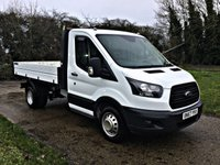 USED 2017 67 FORD TRANSIT 2.0 350 L2 C/C DRW 129 BHP EURO 6, TWIN REAR WHEEL,  1 STOP TIPPER, ALI-BODY