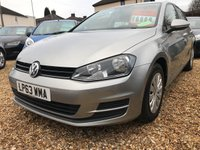 2014 VOLKSWAGEN GOLF 1.6 S TDI BLUEMOTION TECHNOLOGY 5d 103 BHP £6999.00