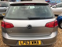 USED 2014 63 VOLKSWAGEN GOLF 1.6 S TDI BLUEMOTION TECHNOLOGY 5d 103 BHP GREAT FUEL ECONMY AND ZERO ROAD TAX: