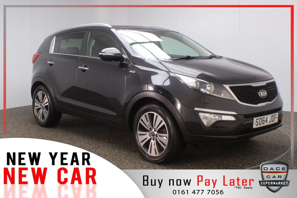USED 2014 64 KIA SPORTAGE 2.0 CRDI KX-3 SAT NAV 5d 134 BHP SAT NAV FULL LEATHER FULL SERVICE HISTORY FULL SERVICE HISTORY + HEATED LEATHER SEATS + SATELLITE NAVIGATION + REVERSE CAMERA + PANORAMIC ROOF + BLUETOOTH + CRUISE CONTROL + CLIMATE CONTROL + MULTI FUNCTION WHEEL +  XENON HEADLIGHTS + PRIVACY GLASS + ELECTRIC WINDOWS + ELECTRIC MIRRORS + 18 INCH ALLOY WHEELS