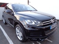 USED 2014 14 VOLKSWAGEN TOUAREG 3.0 V6 R-LINE TDI BLUEMOTION TECHNOLOGY 5d 242 BHP 4x4 asd 4wd Very low mileage full main dealer service history half leather satellite navigation panoramic roof parking sensors privacy glass