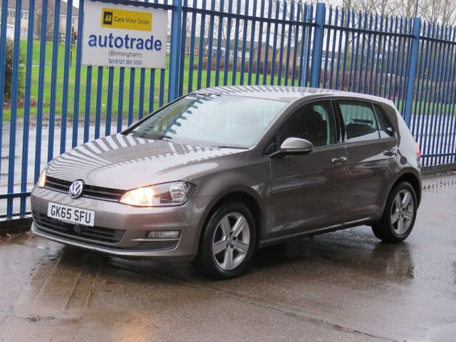 USED 2015 65 VOLKSWAGEN GOLF 1.6 MATCH TDI BLUEMOTION TECHNOLOGY 5dr Bluetooth & audio Alloys Park sensors Finance arranged Part exchange available Open 7 days