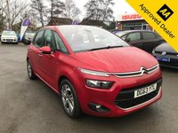 2013 CITROEN C4 PICASSO 1.6 E-HDI AIRDREAM EXCLUSIVE ETG6 5d 113 BHP IN METALLIC RED WITH ONLY 34600 MILES, FULL SERVICE HISTORY AND A GREAT SPEC WITH ONLY 1 OWNER. THIS IS A ULEZ COMPLIANT VEHICLE £6799.00