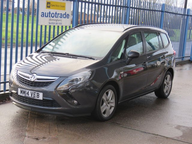 USED 2014 14 VAUXHALL ZAFIRA TOURER 2.0 EXCLUSIV CDTI Auto DAB Park sensors Cruise Rare Automatic & Front/Rear Parking Aid