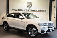 """USED 2015 65 BMW X4 2.0 XDRIVE20D XLINE 4DR AUTO 188 BHP full service history  Finished in a stunning alpine white styled with 18"""" alloys. Upon entry you are presneted with full black leather interior, full service history, satellite navigation, bluetooth, cruise control, heated seats, xenon lights, Automatic air conditioning, LED fog lights, DAB radio, Multifunction steering wheel, automatic boot lid, Interior mirror with automatic-dip, Rain sensors, Automatic air conditioning, Light package, Headlight cleaning system, parking sensors"""