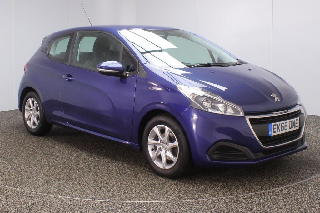 USED 2016 66 PEUGEOT 208 1.2 ACTIVE 3DR AUTO 82 BHP FSH 1 OWNER  FULL SERVICE HISTORY + BLUETOOTH + CRUISE CONTROL + MULTI FUNCTION WHEEL + AIR CONDITIONING + RADIO/AUX/USB + DAB RADIO + ELECTRIC WINDOWS + ELECTRIC/HEATED DOOR MIRRORS + 15 INCH ALLOY WHEELS
