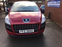USED 2011 11 PEUGEOT 3008 ACTIVE HDI ONE OWNER, 91K MILES, SERVICE HISTORY