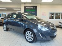 USED 2014 14 VAUXHALL CORSA 1.2 EXCITE AC 3d 83 BHP SERVICE HISTORY + LONG MOT + BLUETOOTH +RADIO /CD + ALLOYS + USB + CENTRAL LOCKING + ELECTRIC WINDOWS + CUP HOLDERS + TINTED WINDOWS + DRIVERS SEAT HEIGHT ADJUSTMENT