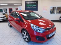 "USED 2013 13 KIA RIO 1.4 3 ECODYNAMICS 5d 107 BHP 1 OWNER FROM NEW + FULL SERVICE HISTORY + JAN 2021 MOT + CRUISE CONTROL + BLUETOOTH + AIR CONDITIONING + 17"" ALLOYS + RADIO/CD/MP3 + REMOTE CENTRAL LOCKING + ELECTRIC WINDOWS + CUP HOLDERS"