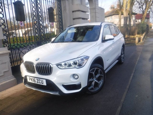 USED 2016 16 BMW X1 2.0 XDRIVE20D XLINE 5d 188 BHP *1 OWNER FROM NEW*FULL BMW SERVICE HISTORY*£3445 BMW EXTRAS*LEATHER SAT NAV*COMFORT PACK*