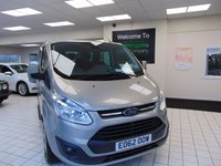 USED 2012 62 FORD TOURNEO CUSTOM 2.2 300 LIMITED TDCI 5d 153 BHP Ford Motor Company plus one private owner. Full Ford Dealer History, MOT Dec 2020, two keys. Towbar, alloy wheels, side steps, front and rear park assist, dark tinted rear windows, cruise control, Bluetooth, power folding door mirrors, heated front seats, 240v power adapter, roof vents to all rear seats, rain sensor wipers, two tone upholstery.