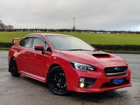 USED 2017 SUBARU WRX STI 2.5 STI TYPE UK 4d 300 BHP RARE PURE RED, FULL SUBARU SERVICE HISTORY