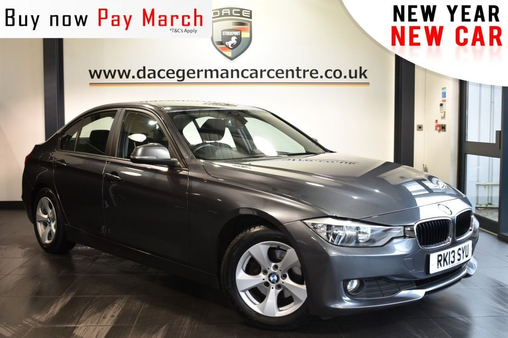 "USED 2013 13 BMW 3 SERIES 2.0 320D EFFICIENTDYNAMICS 4DR 161 BHP excellent service history Finished in a stunning mineral metallic grey styled with 16"" alloys. Upon opening the drivers door you are presented with  anthracite upholstery, excellent service history, pro satellite navigation, bluetooth, DAB radio, cruise control, parking sensors, dab radio, air conditioning, Multifunction steering wheel, Rain sensors, Automatic air conditioning, parking sensors"
