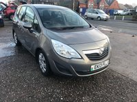 USED 2013 13 VAUXHALL MERIVA 1.7 EXCLUSIV CDTI 5d 128 BHP FULL SERVICE HISTORY 6 STAMPS-DIESEL-1 FORMER KEEPER