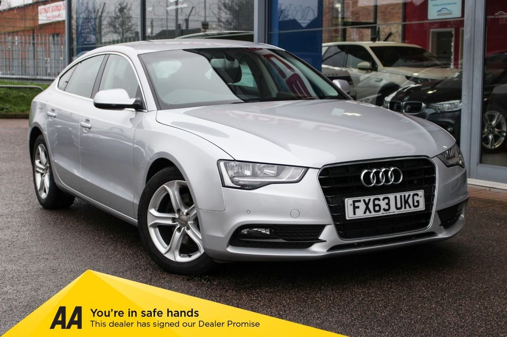 "USED 2013 63 AUDI A5 2.0 SPORTBACK TDI SE TECHNIK S/S 5d 148 BHP - NAV, HTD LEATHER, 17"" ALLOYS, DAB & BLUETOOTH"