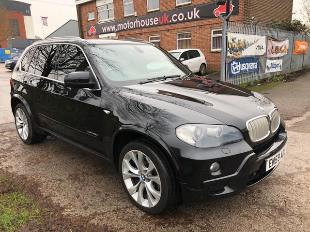 USED 2010 59 BMW X5 3.0 XDRIVE35D M SPORT 5d 282 BHP EXCELLENT EXAMPLE WITH SERVICE HISTORY, ALLOY WHEELS, PARK SENSORS, HEATED LEATHER SEATS, RADIO/CD/AUX/USB, CRUISE CONTROL, CLIMATE CONTROL, SATELLITE NAVIGATION