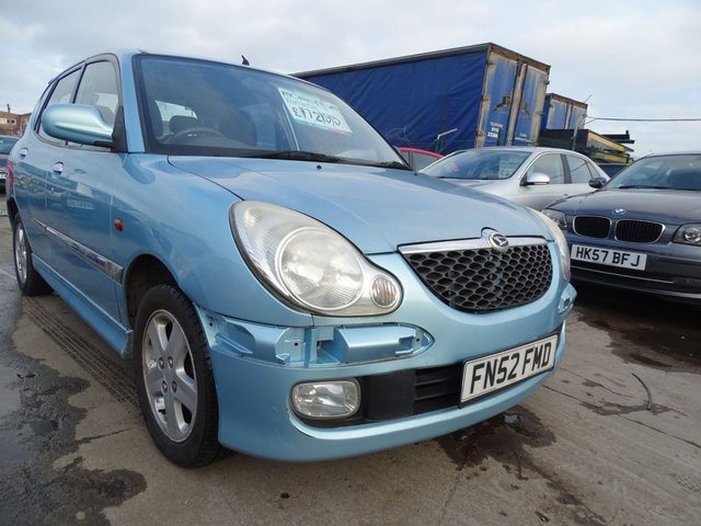 USED 2002 52 DAIHATSU SIRION 1.3 F-SPEED 5d 101 BHP AUTOMATIC PART EX TO CLEAR