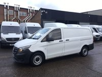 USED 2015 65 MERCEDES-BENZ VITO 1.6 111CDI LONG 114BHP NEW SHAPE. LOW 24,741 MLS. 1 OWNER. PX LOW 24K MILES. 2X REAR BARN DOORS. 1 OWNER. FINANCE. PX