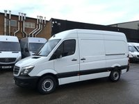 USED 2016 16 MERCEDES-BENZ SPRINTER 2.1 313CDI MWB HIGH ROOF 130BHP. AIRCON. LOW 96K F/S/H. PX AIRCON. 1 OWNER. LOW FINNACE. LOW 96K F/S/H. PX