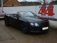 "USED 2012 12 BENTLEY CONTINENTAL 6.0 GTC 2d 567 BHP MULLINER 21"" BLACK ALLOYS,FULL SERVICE HISTORY"