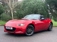 USED 2016 16 MAZDA MX-5 1.5 SPORT 2d 130 BHP LOW MILES,FULL SPEC,NAVIGATION,PDC,LEATHER, CHEAP TO RUN AND MAINTAIN,SUPER FUN TO DRIVE RENOWNED FOR RELIABILITY, READY TO GO!!