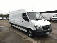 USED 2017 17 MERCEDES-BENZ SPRINTER 2.1 314 CDI LWB HIGH ROOF 140BHP EURO 6. ULEZ. 1 OWNER. PX EURO 6. LOW 65K F/S/H. FINANCE. MERC WARRANTY. PX