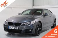 USED 2014 14 BMW 4 SERIES 2.0 420D XDRIVE M SPORT 2d 181 BHP WIDE SCREEN NAVIGATION, FRONT AND REAR PARKING SENSORS