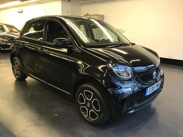 USED 2015 15 SMART FORFOUR 1.0 PRIME PREMIUM 5d 71 BHP 1 OWNER FROM NEW, TOUCHSCREEN SAT NAV, PANORAMIC ROOF, BLUETOOTH PHONE AND AUDIO,