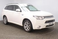 USED 2014 64 MITSUBISHI OUTLANDER 2.0 PHEV GX 4H 5DR SAT NAV LEATHER SEATS 162 BHP FULL MITSUBISHI SERVICE HISTORY + FREE 12 MONTHS ROAD TAX + HEATED LEATHER SEATS + SATELLITE NAVIGATION + REVERSE CAMERA + ELECTRIC SUNROOF + BLUETOOTH + CRUISE CONTROL + CLIMATE CONTROL + MULTI FUNCTION WHEEL + ELECTRIC SEATS + DAB RADIO + XENON HEADLIGHTS + PRIVACY GLASS + ELECTRIC WINDOWS + ELECTRIC/HEATED DOOR MIRRORS + 18 INCH ALLOY WHEELS