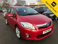 2012 TOYOTA AURIS 1.8 T SPIRIT 5d 99 BHP IN METALLIC RED WITH 91,000 MILES AND A FULL SERVICE HISTORY! HYBRID VEHICLE! £6799.00