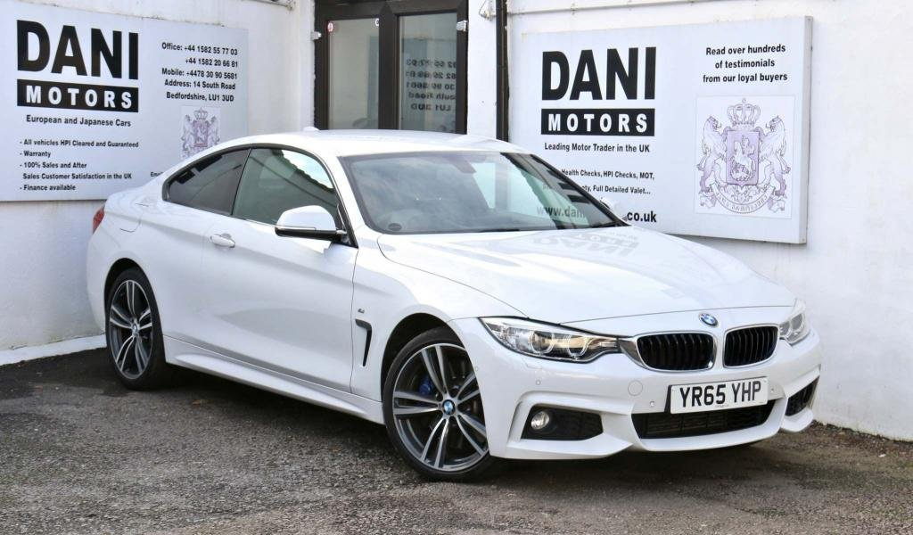 USED 2015 65 BMW 4 SERIES 3.0 430d M Sport xDrive 2dr 1 OWNER*BIG SATNAV*REV CAMERA