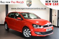 "USED 2012 62 VOLKSWAGEN POLO 1.2 MATCH TDI 5DR 74 BHP Finished in a stunning red styled with 15"" alloys. Upon opening the drivers door you are presented with cloth upholstery, superb service history, bluetooth, heated mirrors, auxiliary port, air conditioning, multi functional steering wheel"