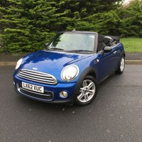 USED 2012 62 MINI CONVERTIBLE 1.6 COOPER D 2d 112 BHP LOW MILEAGE, LOW OWNERSHIP, FULL SERVICE HISTORY, GREAT SPEC, ONLY £20.00 A YEAR TO TAX AND 70+ MPG!