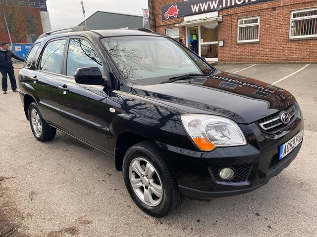 USED 2009 59 KIA SPORTAGE XE 2WD SERVICE HISTORY, ALLOY WHEELS, TOW BAR, 4X ELECTRIC WINDOWS, ELECTRIC DOOR MIRRORS, RADIO/CD/AUX, AIR CONDITIONING, 12V POWER SOCKET, CUP HOLDERS, 2X KEYS