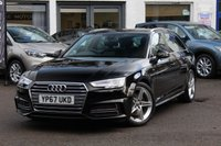 USED 2017 67 AUDI A4 AVANT 1.4T FSI S LINE 150PS S TRONIC 5 DOOR PETROL AUTOMATIC ESTATE 1 OWNER * FULL AUDI HISTORY * SAT-NAV * APPLE CAR PLAY * ELECTRIC TAILGATE *