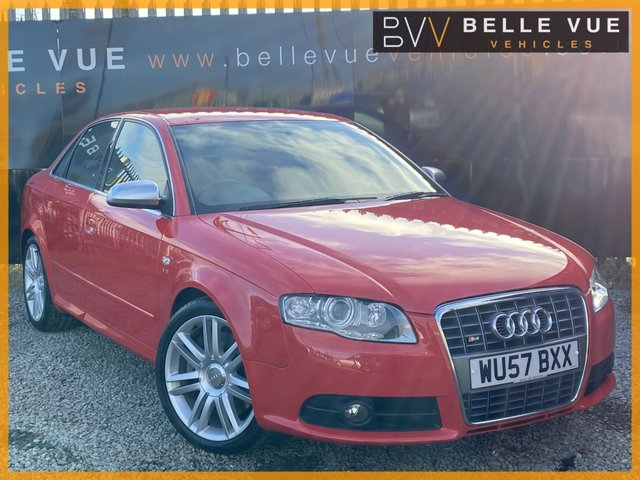 USED 2007 57 AUDI A4 4.2 S4 QUATTRO 4d 339 BHP *HIGH SPEC AND STUNNING IN MISANO RED!*