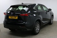 USED 2015 65 LEXUS NX 2.5 300H S 5d AUTO 153 BHP Finished in stunning metallic Graphite Black + 17 inch alloys + black cloth interior + Sat nav + Bluetooth + DAB radio + Full Lexus Service History + In car entertainment - CD / USB + Rear reverse camera + Air Con + Dual climate control + Multi function steering wheel + Radar cruise control + Electric folding mirrors + Electric windows + 1 owner + £20 road tax ULEZ EXEMPT