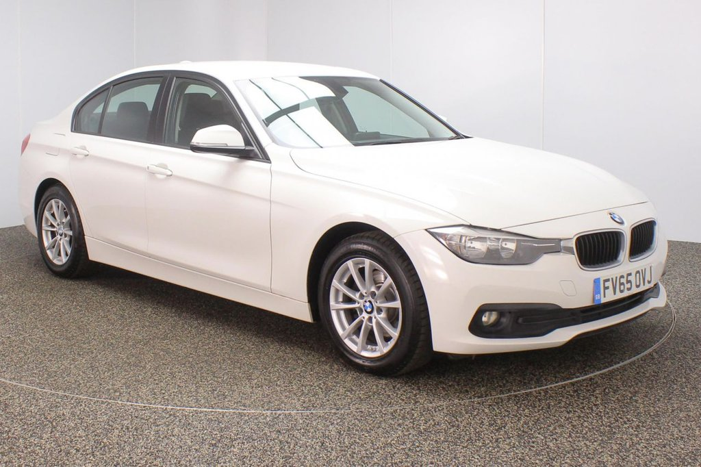 USED 2016 65 BMW 3 SERIES 2.0 320D ED PLUS 4DR AUTO 1 OWNER 161 BHP BMW SERVICE HISTORY + FREE 12 MONTHS ROAD TAX + HEATED LEATHER SEATS + SATELLITE NAVIGATION + PARKING SENSOR + BLUETOOTH + CRUISE CONTROL + CLIMATE CONTROL + MULTI FUNCTION WHEEL + DAB RADIO + ELECTRIC WINDOWS + ELECTRIC MIRRORS + 16 INCH ALLOY WHEELS