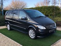 USED 2010 10 MERCEDES-BENZ VIANO 3.0 CDI LONG AMBIENTE 5d 202 BHP A Well Maintained and Versatile 8 Seat Luxury Minibus with Twin Electric Sliding Side Doors, Command Satellite Navigation + Bluetooth Connectivity, Front and Rear Park Distance Control, Leather Multi Function Steering Wheel, Air Conditioning, Automatic Headlights with Power Wash, Heated Electric Powerfold Mirrors, Privacy Glass, 18 Inch Alloy Wheels, Roof Rails.