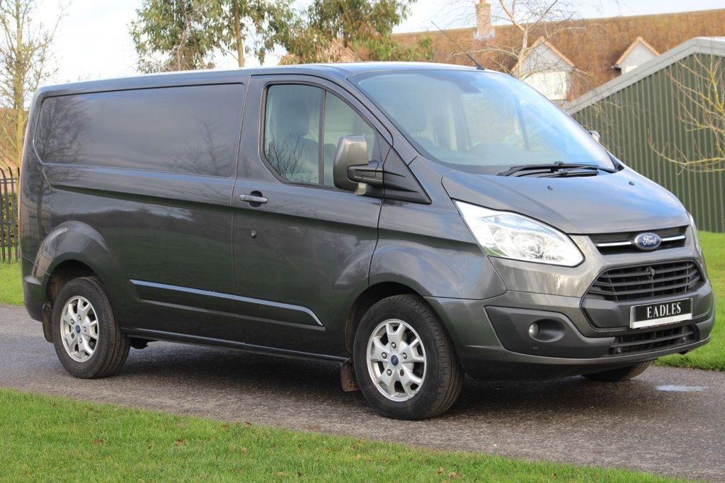 USED 2015 15 FORD TRANSIT CUSTOM 2.2 290 LIMITED LR P/V 124 BHP * NO VAT LIMITED GREY -  WARRANTY INCLUDED * Ready to go