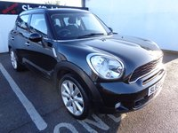 USED 2013 63 MINI COUNTRYMAN 1.6 COOPER S ALL4 5d 184 BHP 4X4 AWD 4WD Low mileage awd mini half leather full service history in absolute black with carbon interior supplied with full mot