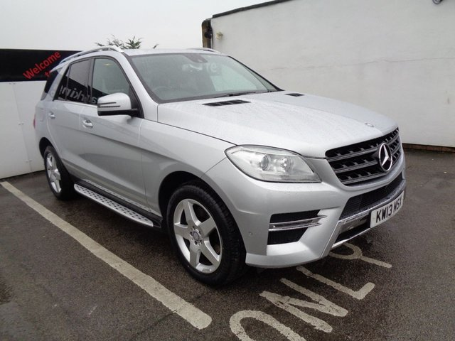 USED 2013 13 MERCEDES-BENZ M CLASS 3.0 ML350 BLUETEC AMG SPORT 5d 258 BHP 4x4 awd 4wd Satellite Navigation Climate Control Half Leather Privacy Glass Parking Sensors