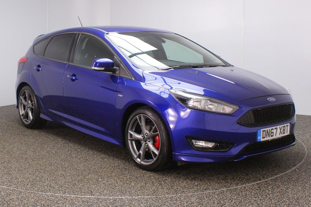 USED 2017 67 FORD FOCUS 1.0 ST-LINE X 5DR 1 OWNER 139 BHP FULL FORD SERVICE HISTORY + SATELLITE NAVIGATION + BLUETOOTH + CRUISE CONTROL + MULTI FUNCTION WHEEL + CLIMATE CONTROL + DAB RADIO + PRIVACY GLASS + ELECTRIC WINDOWS + ELECTRIC MIRRORS + 18 INCH ALLOY WHEELS