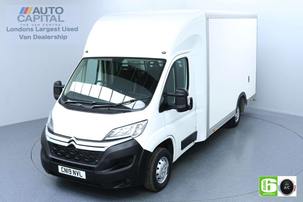 USED 2019 19 CITROEN RELAY 2.0 35 BLUEHDI 161 BHP LWB EURO 6 ENGINE LUTON LOW LOADER | AIR CON | HEATED FRONT SCREEN