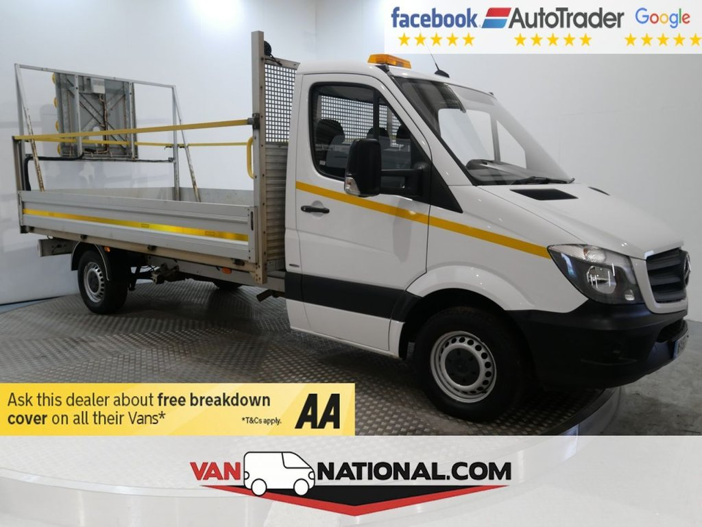 USED 2016 66 MERCEDES-BENZ SPRINTER 2.1 314CDI 140 BHP DROPSIDE LWB (EURO 6 CAMERA CRUISE 4.1M BED) * ONE OWNER * REAR CAMERA * 12 MONTH WARRANTIES AVAILABLE FROM JUST £249 *
